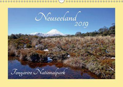 Neuseeland - Tongariro Nationalpark (Wandkalender 2019 DIN A3 quer), Isabel Bürschgens