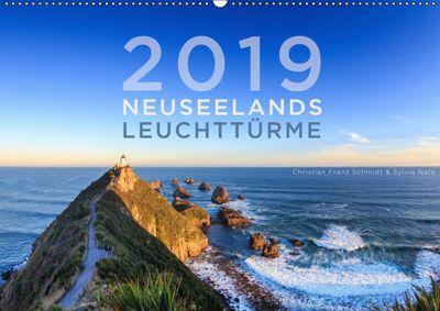 Neuseelands Leuchttürme (Wandkalender 2019 DIN A2 quer), Christian Franz Schmidt