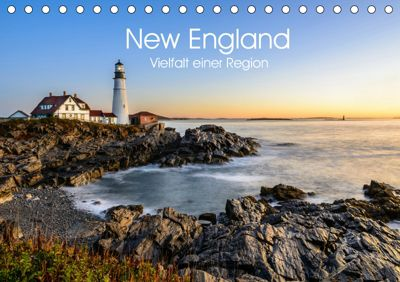 New England - Vielfalt einer Region (Tischkalender 2019 DIN A5 quer), Lukas Proszowski