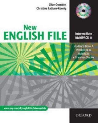 New English File, Intermediate: MultiPack A, Student's Book A, Workbook A, Multi-CD-ROM + Grammar Checker, Clive Oxenden, Christina Latham-Koenig