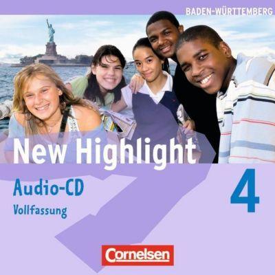 New Highlight, Hauptschule Baden-Württemberg: Bd.4 Band 4: 8. Schuljahr - Lieder- und Text-CDs