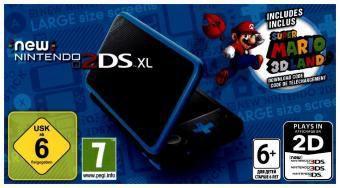New Nintendo 2DS XL + Super Mario 3D Land, 1 Konsole + Nintendo 3DS-Spiel