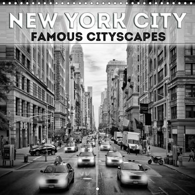 NEW YORK CITY Famous Cityscapes (Wall Calendar 2019 300 × 300 mm Square), Melanie Viola