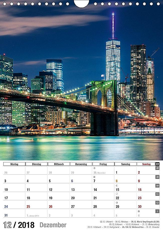 New York City Jahresplaner 2018 Wandkalender 2018 DIN A4 hoch Dieser ...