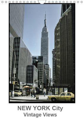 New York City - Vintage Views (Wall Calendar 2019 DIN A4 Portrait), Michael Schulz-Dostal