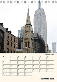 New York - sehenswertes Manhattan (Tischkalender 2019 DIN A5 hoch) - Produktdetailbild 1