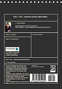New York - sehenswertes Manhattan (Tischkalender 2019 DIN A5 hoch) - Produktdetailbild 13
