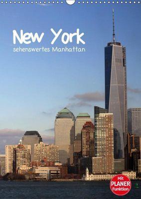 New York - sehenswertes Manhattan (Wandkalender 2019 DIN A3 hoch), Jana Thiem-Eberitsch