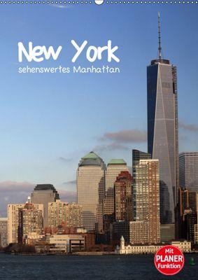 New York - sehenswertes Manhattan (Wandkalender 2019 DIN A2 hoch), Jana Thiem-Eberitsch