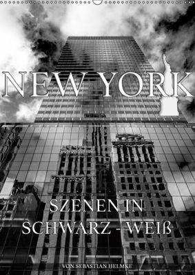 New York - Szenen in Schwarz - Weiss (Wandkalender 2019 DIN A2 hoch), Sebastian Helmke