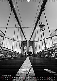 New York - Szenen in Schwarz - Weiß (Wandkalender 2019 DIN A3 hoch) - Produktdetailbild 1