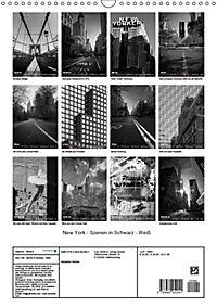 New York - Szenen in Schwarz - Weiß (Wandkalender 2019 DIN A3 hoch) - Produktdetailbild 13