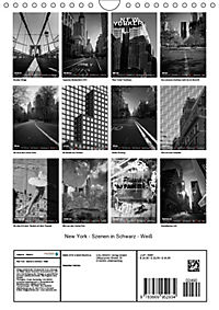 New York - Szenen in Schwarz - Weiß (Wandkalender 2019 DIN A4 hoch) - Produktdetailbild 13
