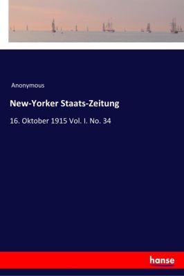 New-Yorker Staats-Zeitung - Anonym pdf epub