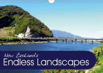 New Zealand's Endless Landscapes (Wall Calendar 2019 DIN A4 Landscape), Christian Bosse