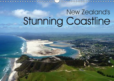 New Zealand's Stunning Coastline (Wall Calendar 2019 DIN A3 Landscape), Christian Bosse