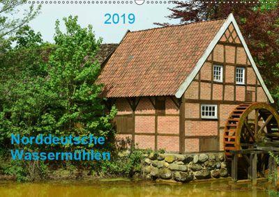 Norddeutsche Wassermühlen (Wandkalender 2019 DIN A2 quer), Heinz Wösten