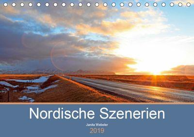 Nordische Szenerien (Tischkalender 2019 DIN A5 quer), Janita Webeler
