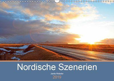 Nordische Szenerien (Wandkalender 2019 DIN A3 quer), Janita Webeler