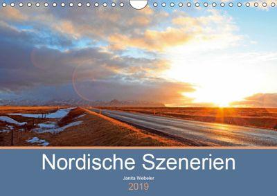 Nordische Szenerien (Wandkalender 2019 DIN A4 quer), Janita Webeler