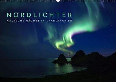 Nordlichter - Magische Nächte in Skandinavien (Wandkalender 2019 DIN A2 quer), Lain Jackson