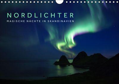 Nordlichter - Magische Nächte in Skandinavien (Wandkalender 2019 DIN A4 quer), Lain Jackson