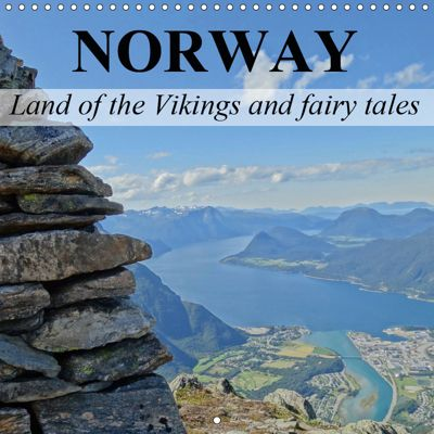 Norway Land of the Vikings and fairy tales (Wall Calendar 2019 300 × 300 mm Square), Elisabeth Stanzer