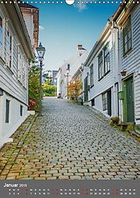 Norwegen - Altstadt Gamle Stavanger (Wandkalender 2019 DIN A3 hoch) - Produktdetailbild 1