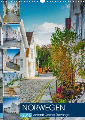 Norwegen - Altstadt Gamle Stavanger (Wandkalender 2019 DIN A3 hoch), Dirk Meutzner