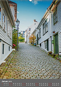 Norwegen - Altstadt Gamle Stavanger (Wandkalender 2019 DIN A2 hoch) - Produktdetailbild 1