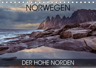 Norwegen - der hohe Norden (Tischkalender 2019 DIN A5 quer), Val Thoermer