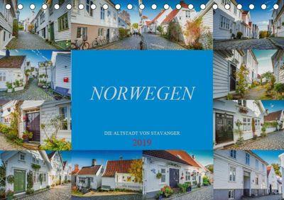 Norwegen - Die Altstadt von Stavanger (Tischkalender 2019 DIN A5 quer), Dirk Meutzner