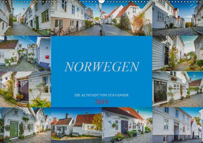 Norwegen - Die Altstadt von Stavanger (Wandkalender 2019 DIN A2 quer), Dirk Meutzner