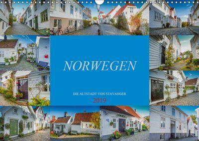 Norwegen - Die Altstadt von Stavanger (Wandkalender 2019 DIN A3 quer), Dirk Meutzner