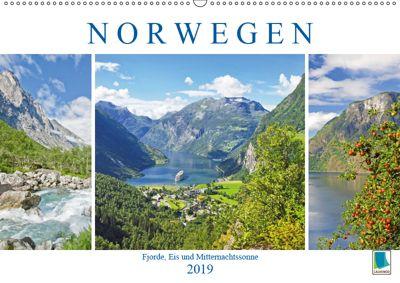 Norwegen: Fjorde, Wald und Mitternachtssonne (Wandkalender 2019 DIN A2 quer), k.A. CALVENDO