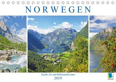 Norwegen: Fjorde, Wald und Mitternachtssonne (Tischkalender 2019 DIN A5 quer), CALVENDO
