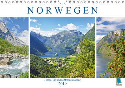 Norwegen: Fjorde, Wald und Mitternachtssonne (Wandkalender 2019 DIN A4 quer), CALVENDO
