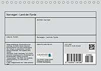 Norwegen - Land der Fjorde (Tischkalender 2019 DIN A5 quer) - Produktdetailbild 13