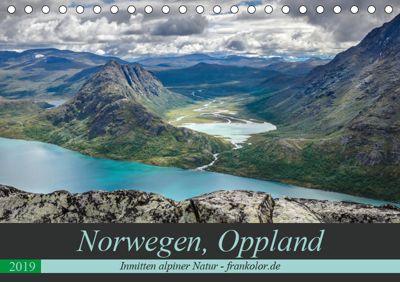 Norwegen, Oppland (Tischkalender 2019 DIN A5 quer), Frank Brehm