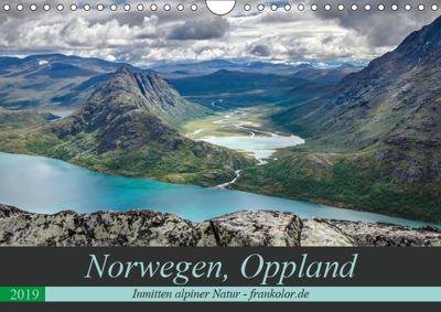 Norwegen, Oppland (Wandkalender 2019 DIN A4 quer), Frank Brehm