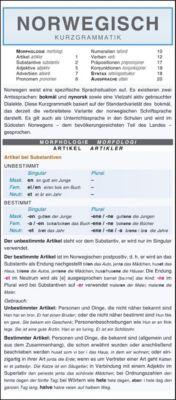 Norwegisch - Kurzgrammatik. Die komplette Grammatik anschaulich und verständlich dargestellt, Autorenkollektiv Holman