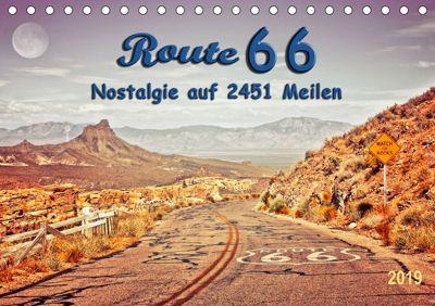Nostalgie auf 2451 Meilen - Route 66 (Tischkalender 2019 DIN A5 quer), Peter Roder