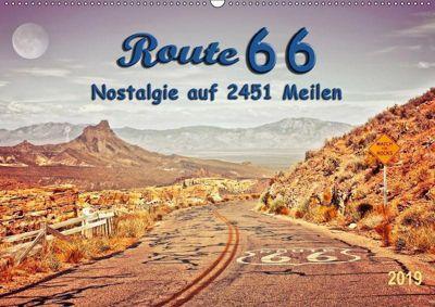 Nostalgie auf 2451 Meilen - Route 66 (Wandkalender 2019 DIN A2 quer), Peter Roder