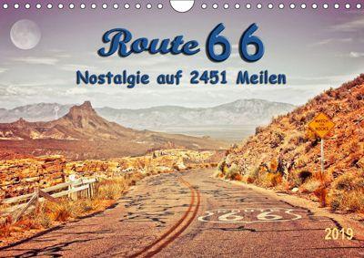 Nostalgie auf 2451 Meilen - Route 66 (Wandkalender 2019 DIN A4 quer), Peter Roder