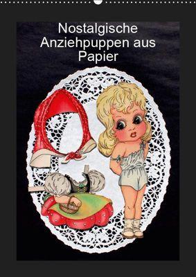 Nostalgische Anziehpuppen aus Papier (Wandkalender 2019 DIN A2 hoch), Karen Erbs