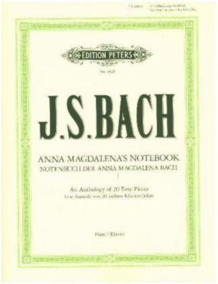 Notenbuch der Anna Magdalena Bach -Auswahl von 20 leichten Klavierstücken-, Johann Sebastian Bach