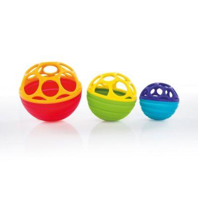 beeboo Baby Rasselball blau gelb ab 6 Monate Motorikspielzeug