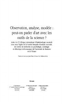 Observation analyse modele, Collectif