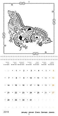 Ocean Lost by Sophie Mama (Wall Calendar 2019 300 × 300 mm Square) - Produktdetailbild 1