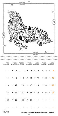 Ocean Lost by Sophie Mama (Wall Calendar 2019 300 × 300 mm Square) - Produktdetailbild 1